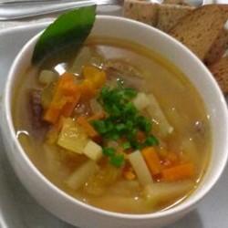 Sopa de Legumes e Carne Como Fazer Sopa de Legumes e Carne