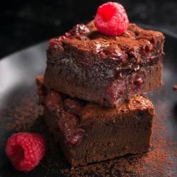 Brownie com Framboesas Como Fazer Brownie Fácil