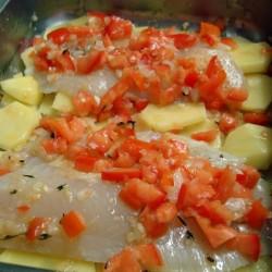 Tilápia ao Forno com Batatas Receita