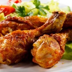 Coxas de frango assado no forno