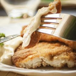 Frango empanado sem farinha