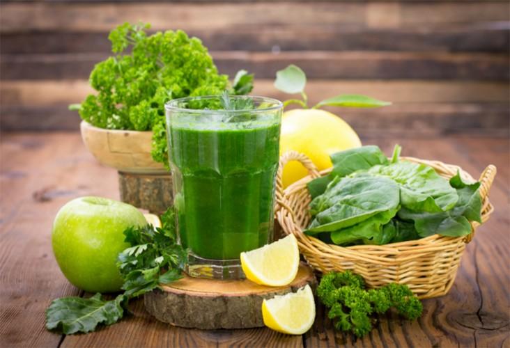 Suco verde com Couve
